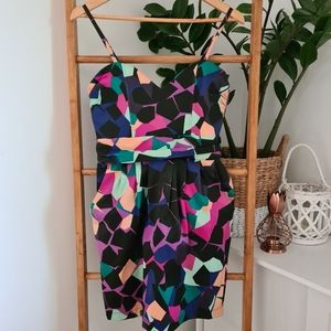 Pure Hype Colourful Dress Size L 10-12